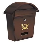 Schránka poštová hnedá 380 x 320 x 105 mm  (YT-78587)