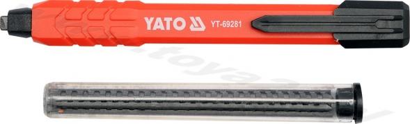Automatická tesárska ceruzka s náhradnými tuhami HB (YT-69281)
