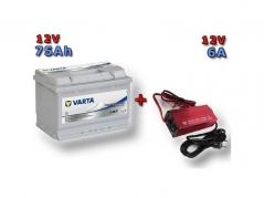 Výhodný set Trakčná batéria VARTA Dual Purpose 75Ah, 12V, 930075065 a multifunkční Nabíječky Fairstone ABC-1206 (930075065)