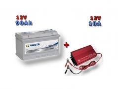 Výhodný set Trakčná batéria VARTA Dual Purpose 90Ah, 12V, 930090080 a multifunkční Nabíječky Fairstone ABC-1210D (930090080)