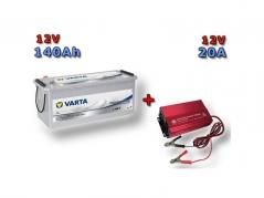 Výhodný set Trakčná bateria VARTA Dual Purpose 140Ah, 12V, 930140080 a multifunkční Nabíječky Fairstone ABC-1220D (930140080)