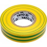Páska izolační 19mm x 20m x 0,13mm žlto-zelená (YT-81655)