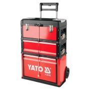 Vozík na náradie 3 sekcie, 1 zásuvka (YT-09102)