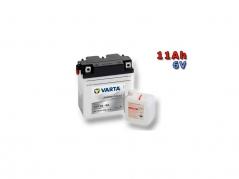 Motobatéria VARTA 6N11A-3A, 11Ah, 6V (E5676)