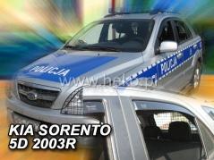 Deflektory na Kia Sorento, 5-dverová (+zadné), r.v.: 2002 - 2009 (20142)
