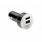 Dvojitá USB nabíjačka 2.1mA čierna (USB100B)