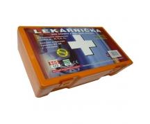 Autolekárnička v oranžovej plastovej krabici - obsahuje Kartu prvej pomoci (002084)
