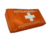 Autolekárnička v oranžovej textilnej taške, uni-potlač, zafóliovaná - obsahuje Kartu prvej pomoci (002085)