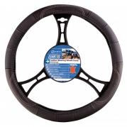 Kožený poťah volantu 37-39 cm čierny (2505081)