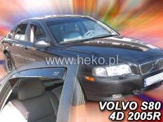 Deflektory na Volvo S80, 4-dverová (+zadné), r.v.: 1998 - 2006 (31222)
