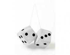 """Ozdobné kocky """"JUMBO SIZE"""" biele 9x9cm (JUMBO30)"""