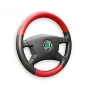 Kožený poťah volantu Mária Cavallo čierno-červený (235230)