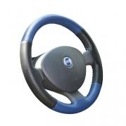 Kožený poťah volantu Mária Cavallo čierno-modrý (0-1)