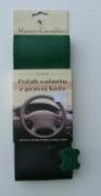 Kožený poťah volantu Mária Cavallo čierno-zelený (0-1-1-1-1-1)