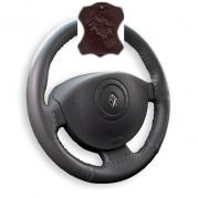 Kožený poťah volantu Mária Cavallo hnedý (30183-1-1-1)