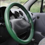 Kožený poťah volantu Mária Cavallo zelený (30183-1-1-1-1-1)