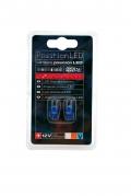 LED autožiarovky T10 5W 12V, modré (LED100A)