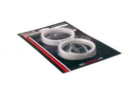 Okrasné pásy na disky strieborné (BZA56SV)
