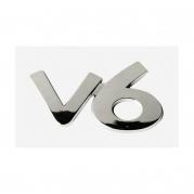 """Emblém """"V6"""" chróm, 40 x 65 mm (LOG1511)"""