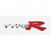 """Emblém """"TYPE R"""" chróm, 30 x 120 mm (LOG1575)"""