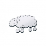 """Emblém """"SHEEP"""" chróm, 57 x 40 mm (LOG1780)"""