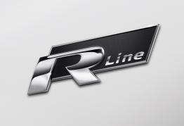 "Emblém ""R-LINE"" chróm/čierny, 78 x 24 mm (LOG1934)"