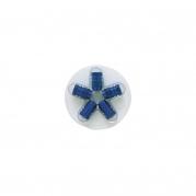 Šesťhranné hliníkové čapičky na ventily, modré (4006925)