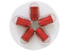 Šesťhranné hliníkové čapičky na ventily, červené (4006975)