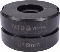 Náhradné čeľuste k lisovacím kliešťom YT-21735 typ U 16mm (YT-21740)