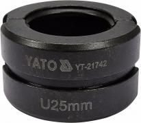Náhradné čeľuste k lisovacím kliešťom YT-21735 typ U 25 mm (YT-21742)
