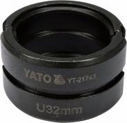 Náhradné čeľuste k lisovacím kliešťom YT-21735 typ U 32 mm (YT-21743)