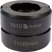 Náhradné čeľuste k lisovacím kliešťom YT-21735 typ TH 20 mm (YT-21745)