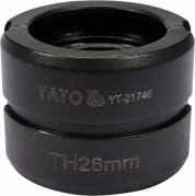 Náhradné čeľuste k lisovacím kliešťom YT-21735 typ TH 26 mm (YT-21746)