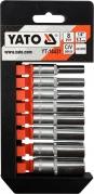 """Sada nadstavcov 1/4"""" šesťhranné 8ks 5,5-13 mm (YT-14431)"""