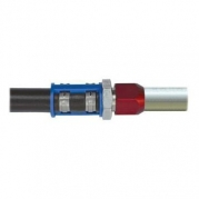 Smart konektor hliníkový 180 stopňů - 3/8' A/C (007935020780)
