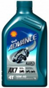 Shell Advance AX7 4T 10W-40, 1L (000513)