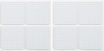 Podložky samolepiace pod nábytok biele 38 x 38 mm 8 ks (YT-74903)