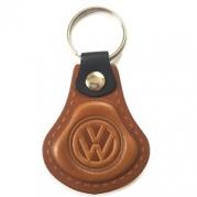Kožená kľúčenka Volkswagen hnedá (AUTO123-925-411)