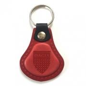Kožená kľúčenka Dacia červená (AUTO123-925-396)