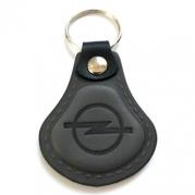 Kožená kľúčenka Opel sivá (AUTO123-927-264)