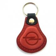 Kožená kľúčenka Opel červená (AUTO123-924-995)