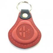 Kožená kľúčenka Alfa Romeo červená (AUTO123-924-966)