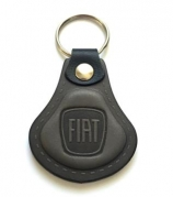 Kožená kľúčenka Fiat šedá (AUTO123-924-976)