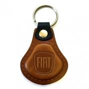 Kožená kľúčenka Fiat hnedá (AUTO123-924-974)