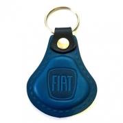 Kožená kľúčenka Fiat modrá (AUTO123-924-975)