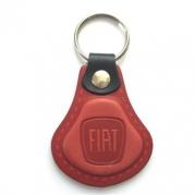Kožená kľúčenka Fiat červená (AUTO123-924-973)