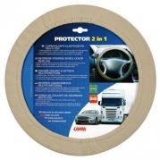 Poťah na volant 34-45cm béžový elastický LA (33148)