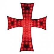 Dekorácia - svetelný kríž červený 24V (96973)