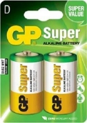 Batéria GP 13AU R20 BL 1,5V (veľké mono, D) 2ks v balení (B1941)