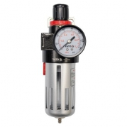 """Regulátor tlaku vzduchu 1/2"""", max. 0,93MPa, s filtrom (90cm3) (YT-2383)"""
